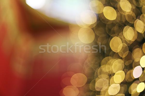 Decoratie abstract Geel bokeh licht gelukkig nieuwjaar Stockfoto © boggy