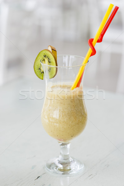 Healthy smoothies made from kiwi and banana Stock photo © boggy