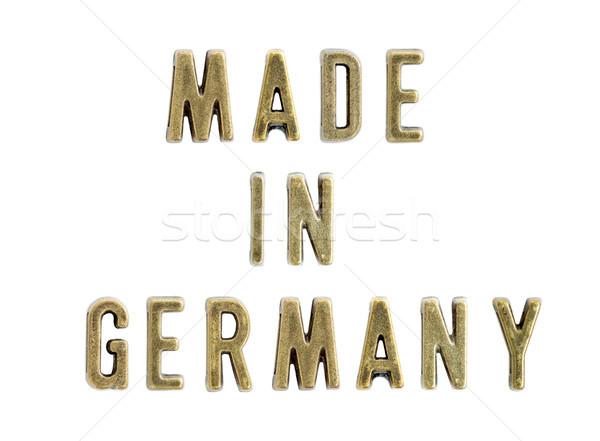 Németország klasszikus réz levelek szöveg izolált Stock fotó © boggy