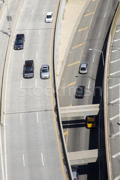 New York utca légifelvétel autó út város Stock fotó © boggy