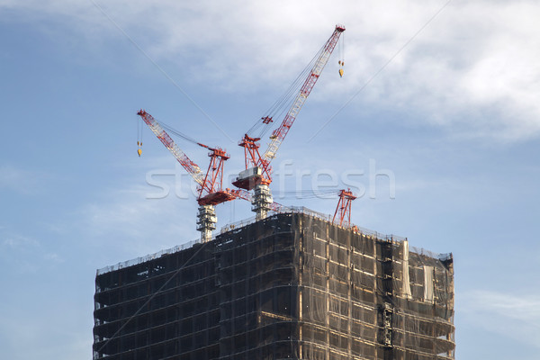 Buildings construction in Tokyo, Japan Stock photo © boggy
