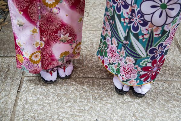 Tradicional sandálias santuário quioto Japão mulher Foto stock © boggy