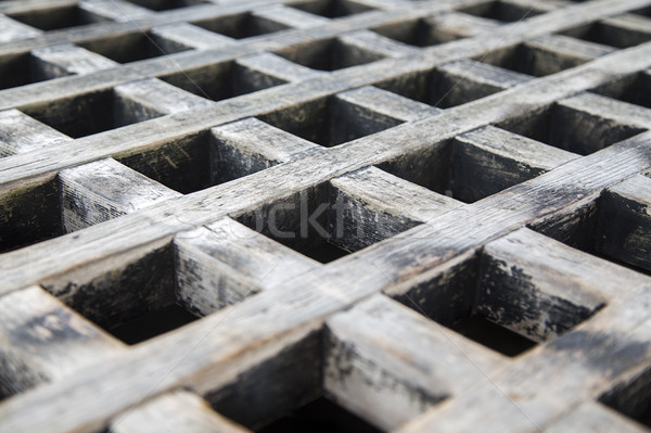 Steel grid in close up for background or texture Stock photo © boggy