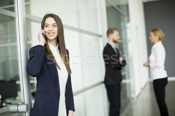 Imagen agente papel teléfono de trabajo Foto stock © boggy