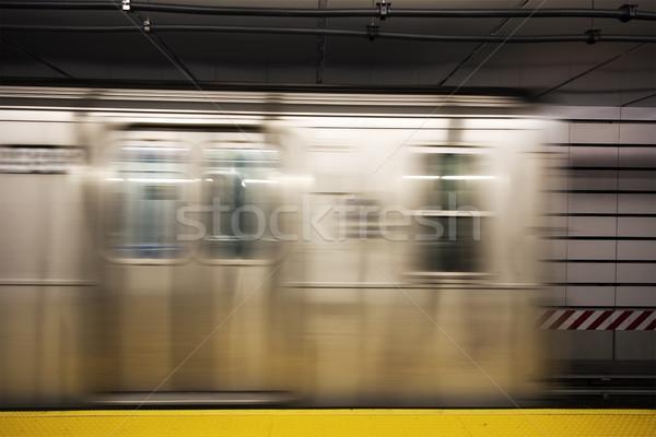 New York City métro train mouvement Voyage métro Photo stock © boggy