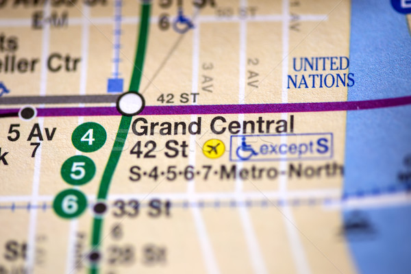 Grand Central 42 St. Lexington Av,Pelham Express Line. NYC. USA Stock photo © boggy
