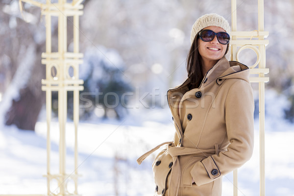 Young woman at winter Stock photo © boggy