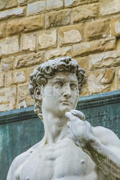 Florence részlet művészet márvány férfi kultúra Stock fotó © boggy