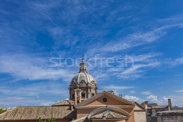 Santa Maria di Loreto church in Rome Stock photo © boggy