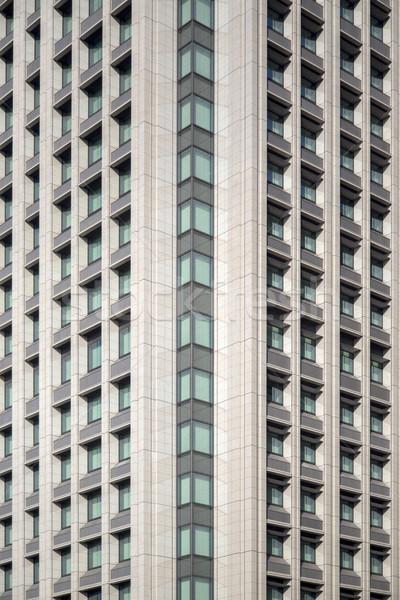 Kilátás modern épület Tokió Japán üzlet iroda Stock fotó © boggy