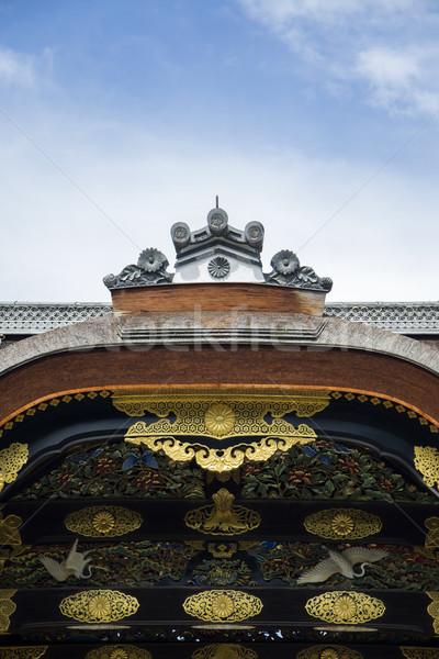 Saray kale kyoto detay Japonya ahşap Stok fotoğraf © boggy