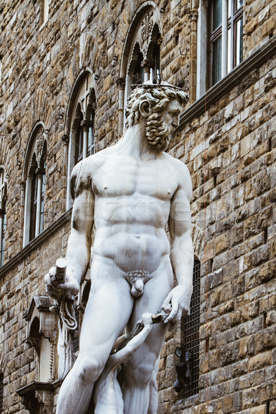 Fountain of Neptune in Florence Stock photo © boggy