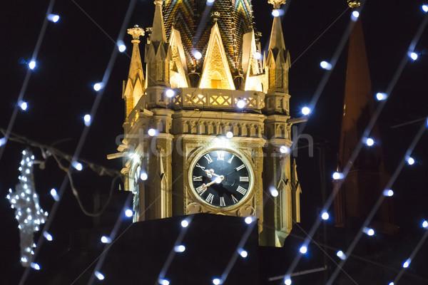 Ad kilise üzücü Sırbistan Noel dekorasyon Stok fotoğraf © boggy