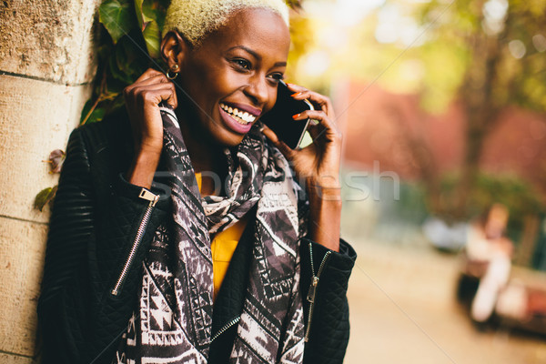 Modern african american woman Stock photo © boggy