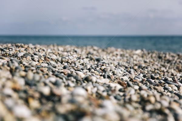 Cobble stone beach Stock photo © boggy