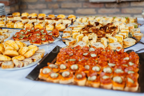 Canape set table Stock photo © boggy