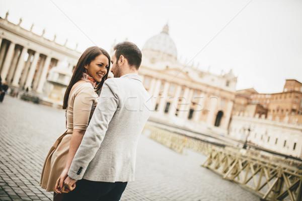 Kochający para watykan Włochy miłości miasta Zdjęcia stock © boggy