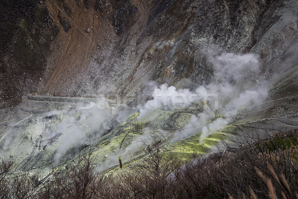 Caldo Giappone view vulcanica primavera natura Foto d'archivio © boggy