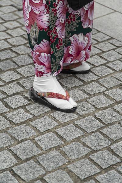 Sandalet kyoto geleneksel Japonya kadın Stok fotoğraf © boggy
