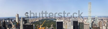 View at Central Park and Manhatten, New York, United States Stock photo © boggy