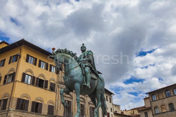フィレンツェ イタリア 馬 芸術 アーキテクチャ 像 ストックフォト © boggy