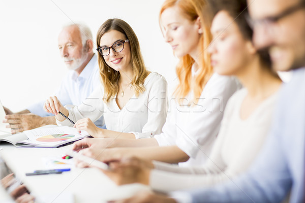 Stock photo: Businesspeople working in team