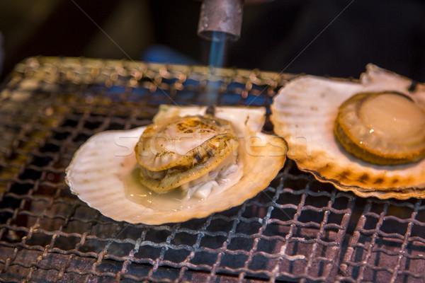 Fresco peixe mercado Tóquio Japão concha Foto stock © boggy