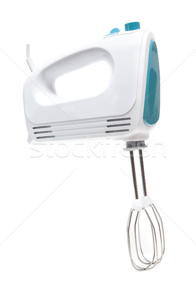 Electric food mixer on white background Stock photo © boggy