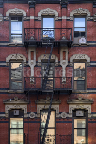 古い アパート マンハッタン ニューヨーク市 米国 通り ストックフォト © boggy