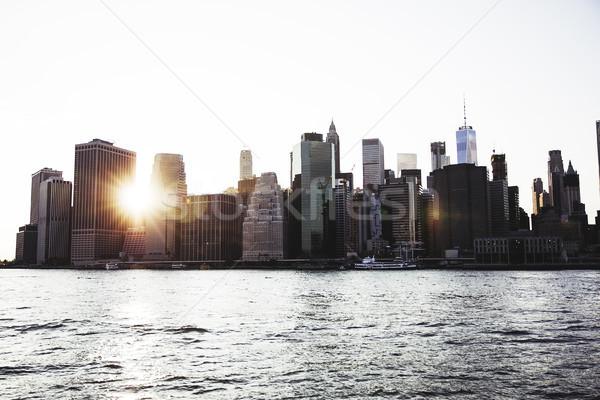Manhattan cena Nova Iorque Estados Unidos mar urbano Foto stock © boggy