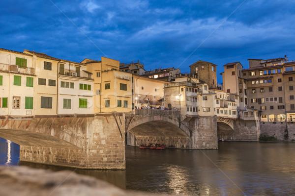 Bridge Ponte Vecchio by night Stock photo © boggy