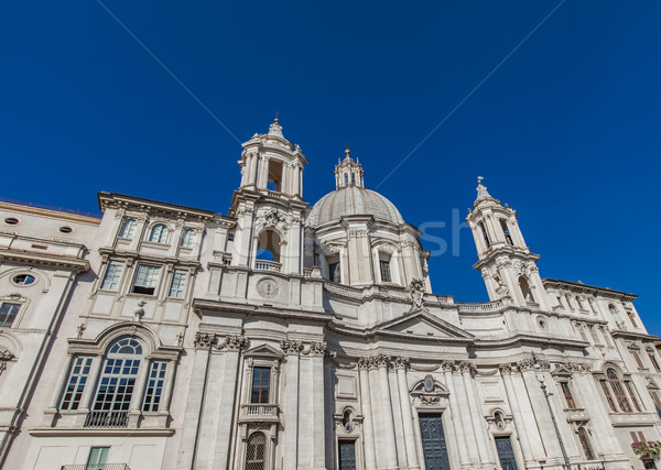Sant'Agnese in Agone church at Piazza Navona in Rome Stock photo © boggy