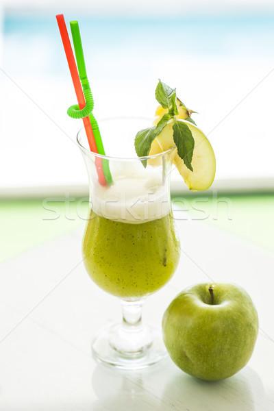 新鮮な リンゴジュース 表示 リンゴ フルーツ ストックフォト © boggy