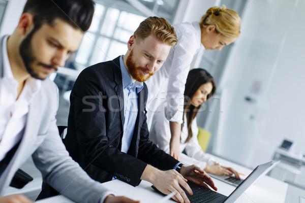 Business team beter resultaten moderne kantoor Stockfoto © boggy