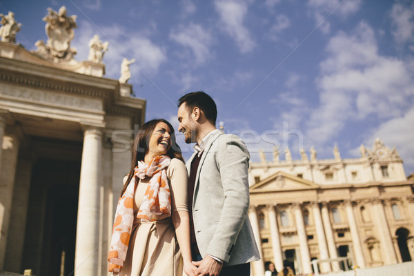 любящий пару Ватикан Италия любви город Сток-фото © boggy