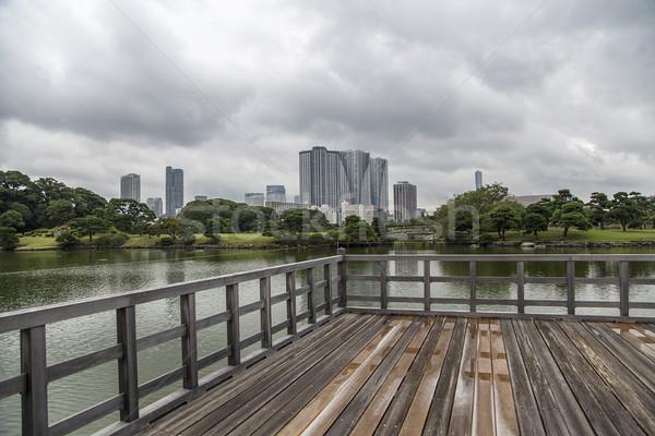 Thé maison Tokyo Japon lac eau Photo stock © boggy