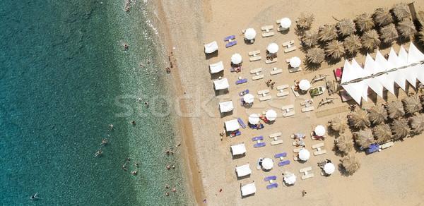 Strand Griekenland luchtfoto water natuur zee Stockfoto © boggy