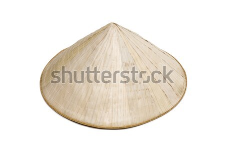 Traditional Asian hat made of twigs Stock photo © boggy
