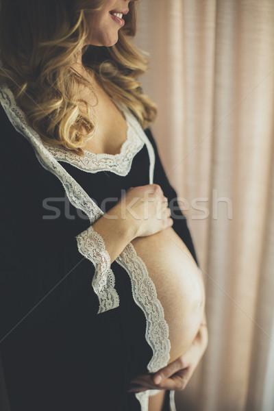 写真 美しい 妊婦 着用 ランジェリー ポーズ ストックフォト © boggy