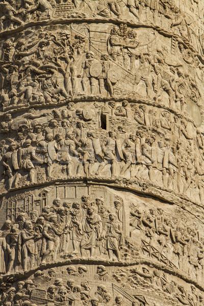 Trajan column in Rome Stock photo © boggy
