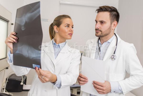 врачи Xray пациент клинике человека Сток-фото © boggy