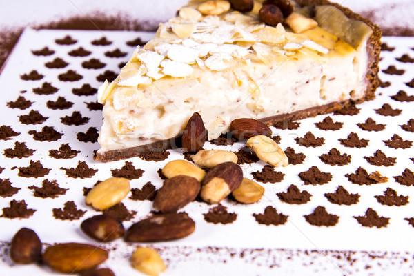 Almond tart Stock photo © boggy