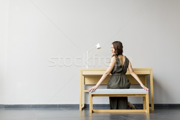 Young woman in the room Stock photo © boggy
