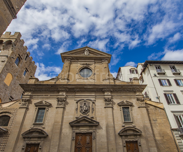 Holy Trinity church in Florence Stock photo © boggy