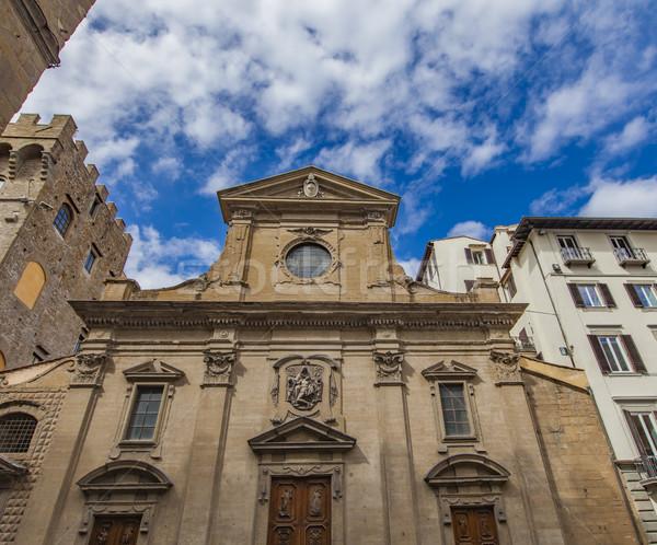 Szent templom Florence részlet utazás kő Stock fotó © boggy