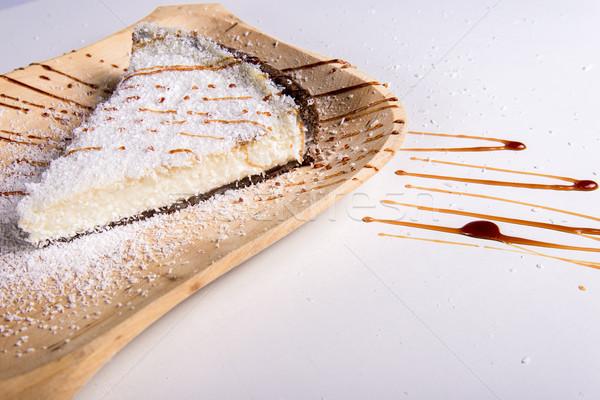 Kokosnoot taart voedsel chocolade Stockfoto © boggy
