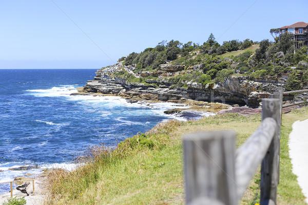 Tengerpart kilátás Ausztrália természet tájkép nyár Stock fotó © boggy