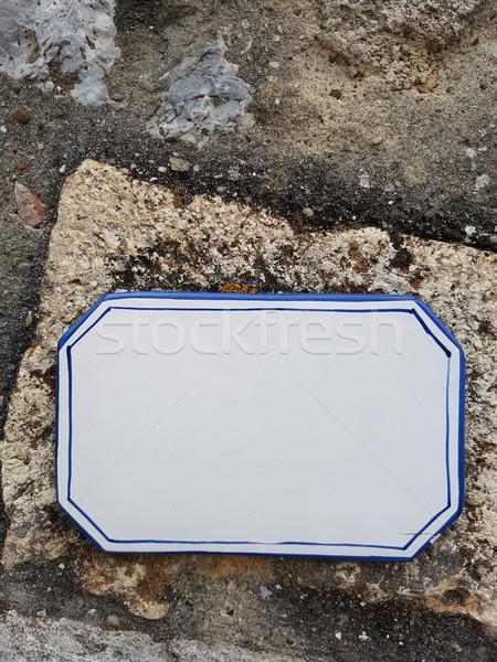 пусто улице подписать стены кадр знак пространстве Сток-фото © boggy