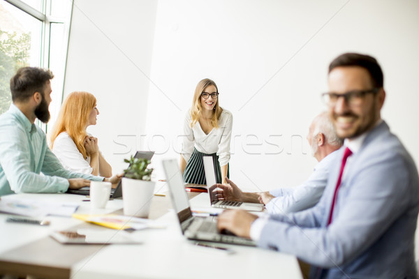Group of people working in the modern office Stock photo © boggy