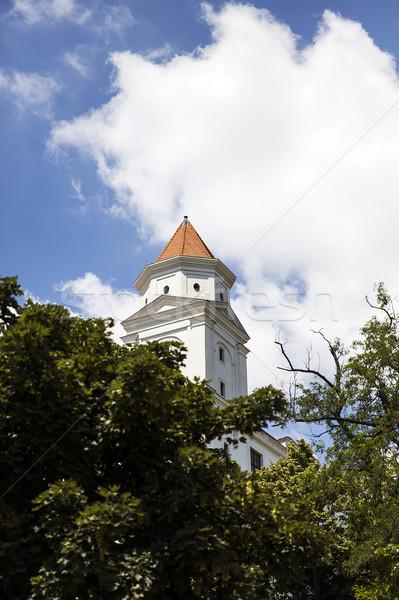 Bratislava castelo Eslováquia ver edifício paisagem Foto stock © boggy